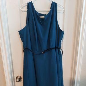 Mid Length Turquoise Dress - Alyx